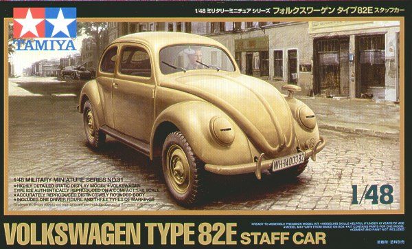 Tamiya (TA32531), Volkswagen Type 82E Staff Car, 1/48